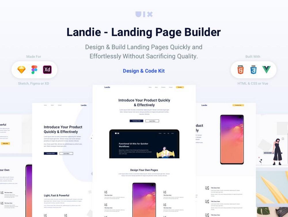 Free Figma Landing Page Template