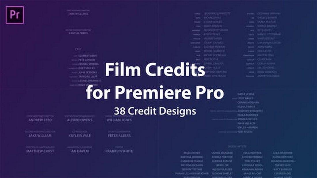 Kredit Film Gratis Premiere Pro Template