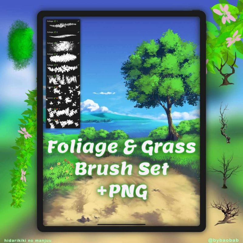 Free Foliage & Grass Brushes for Procreate