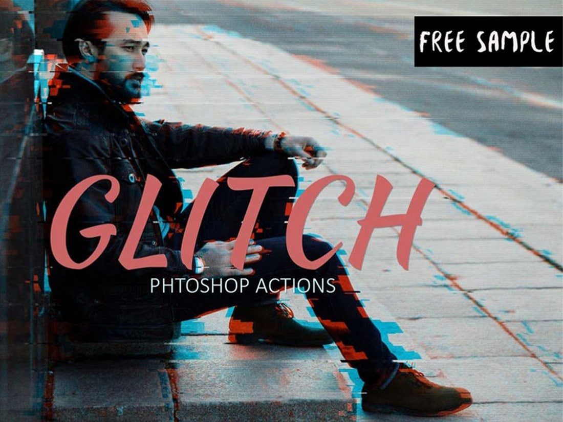 Free Glitch Effect Photoshop Action