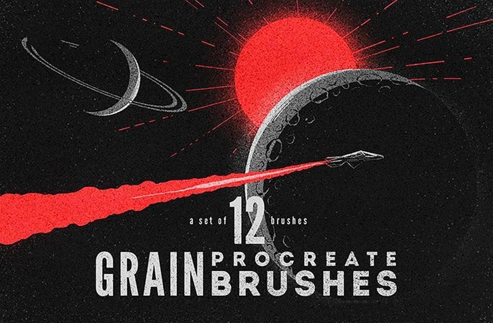 Free Grain Procreate Brushes