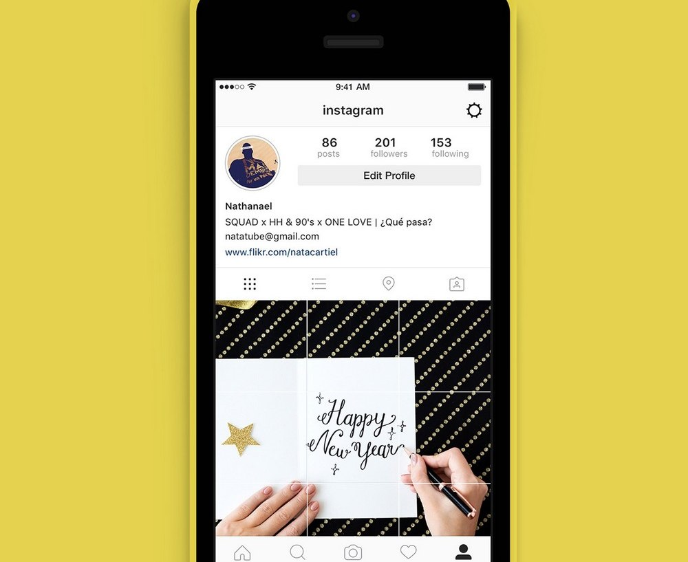 Free Instagram Grid Cover Template