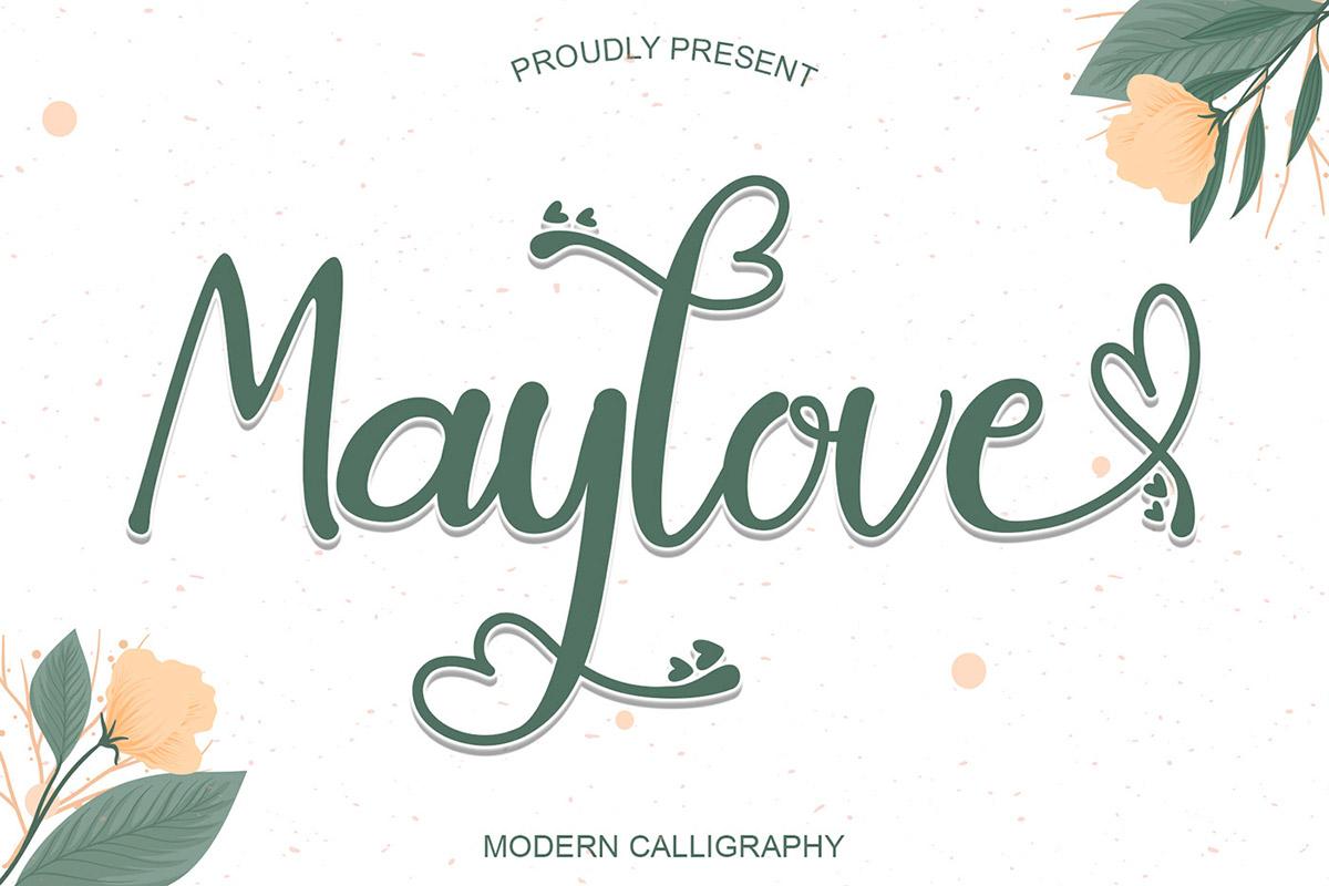 Font Kaligrafi Maylove Gratis