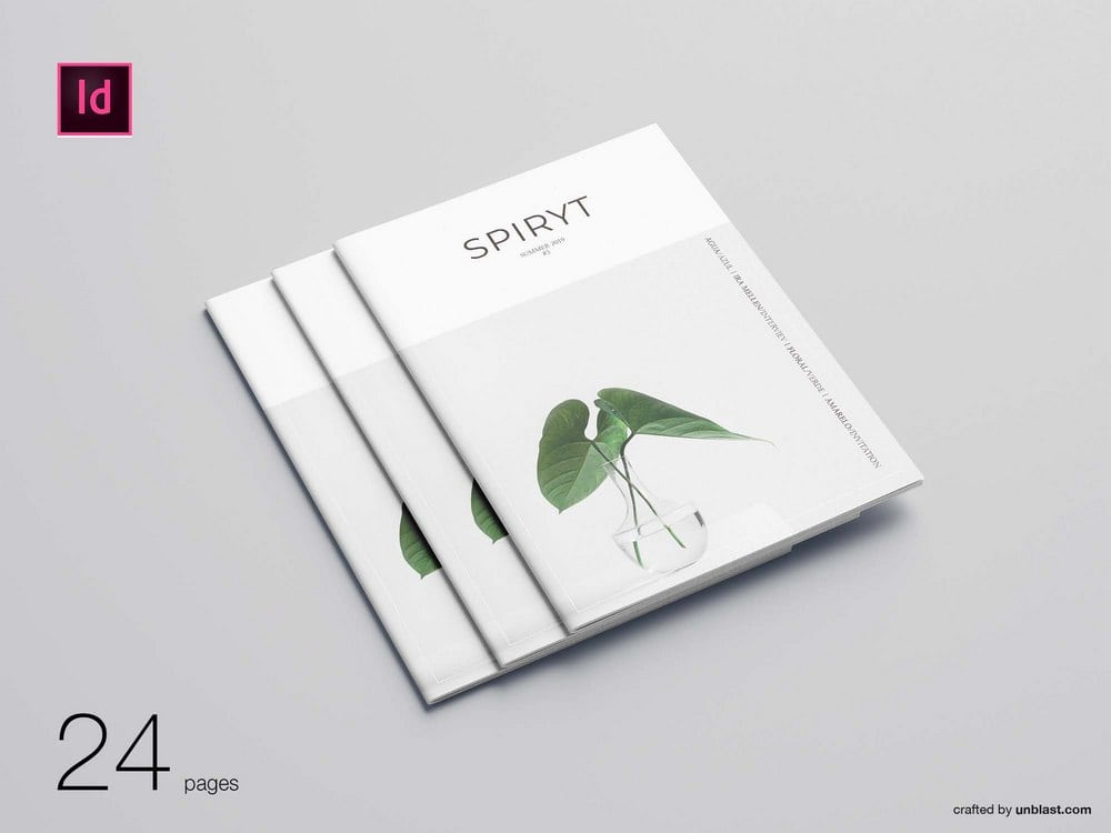 Free Minimal Magazine Brochure Template
