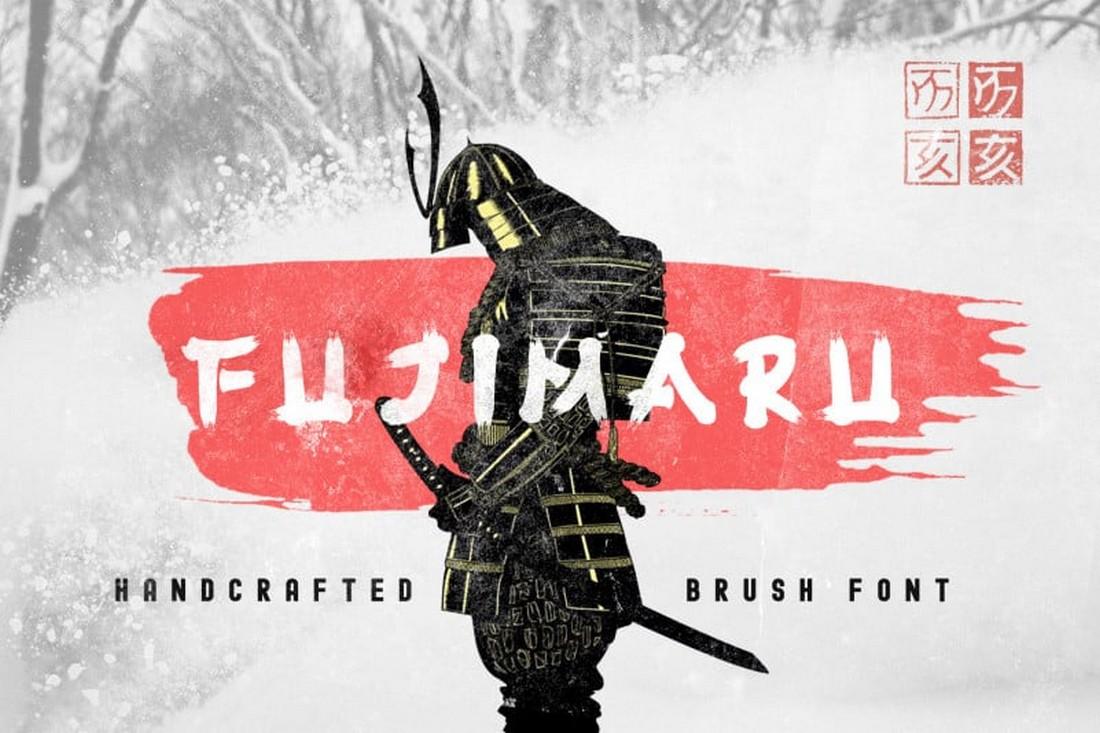 Fujimaru - Font Kuas Jepang Gratis