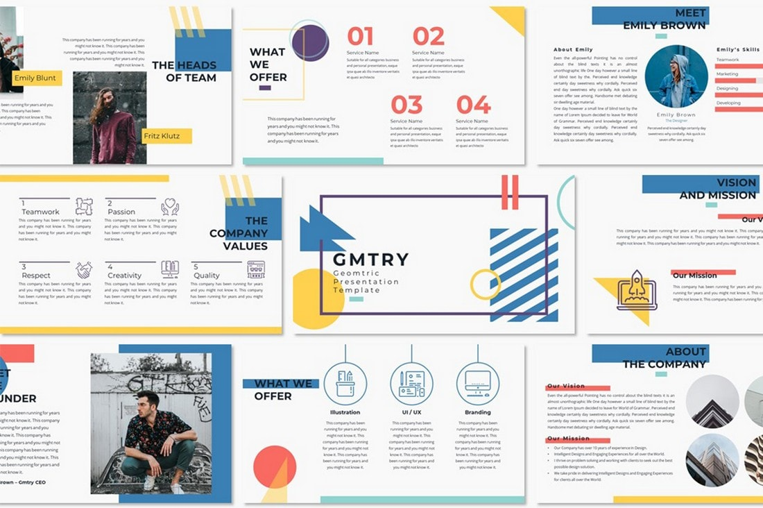 GMTRY – Geometric PowerPoint Template