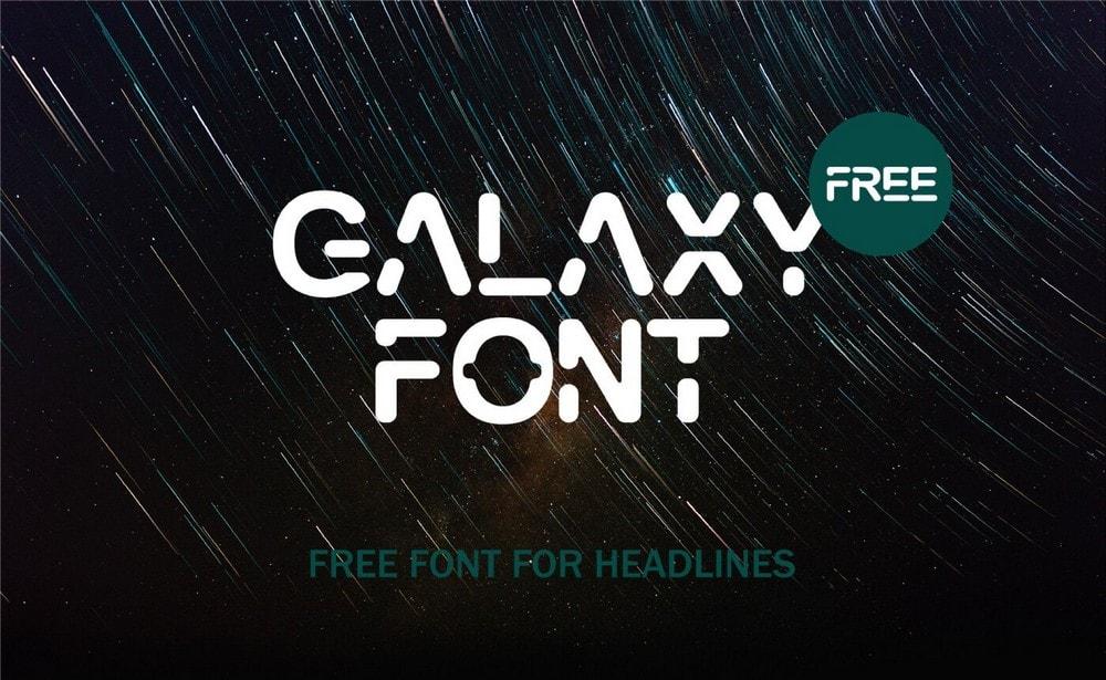 Galaxy - Free Futuristic Logo Font