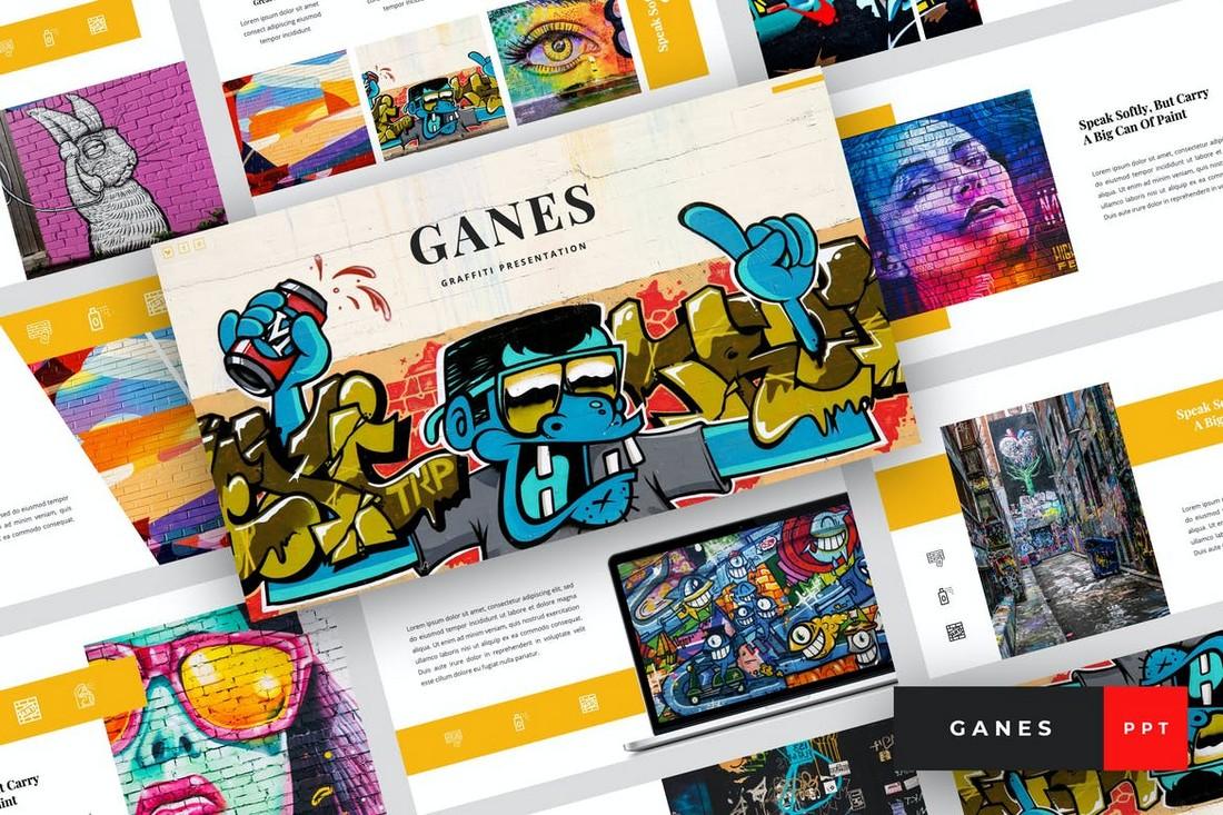 Ganes - Templat PowerPoint Seni Grafiti