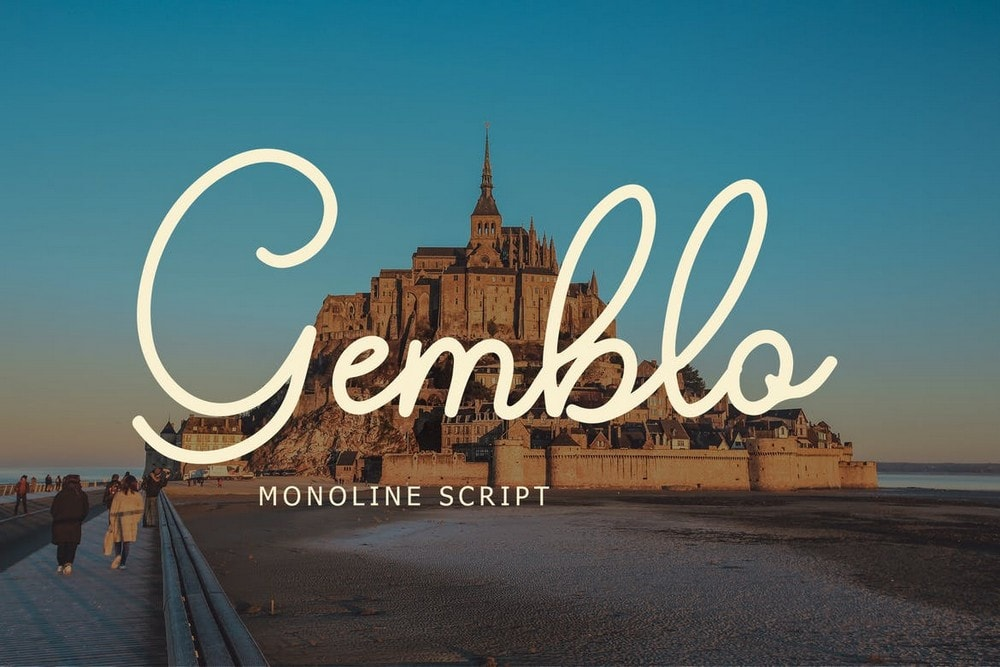 Gemblo - Font Monoline Kaligrafi Pernikahan
