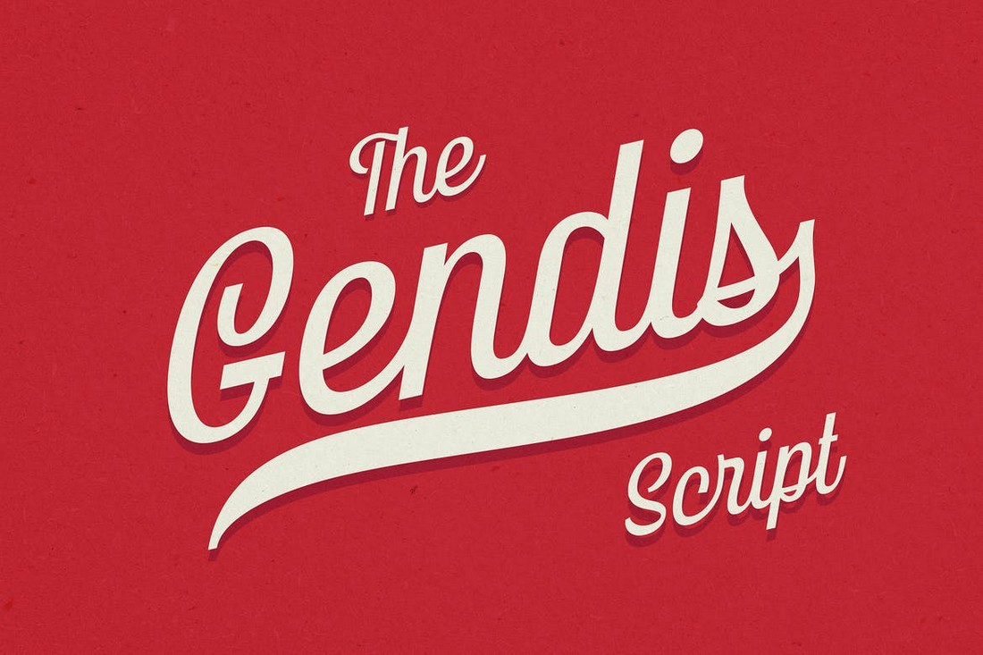 Gendis Script Modern Baseball Font