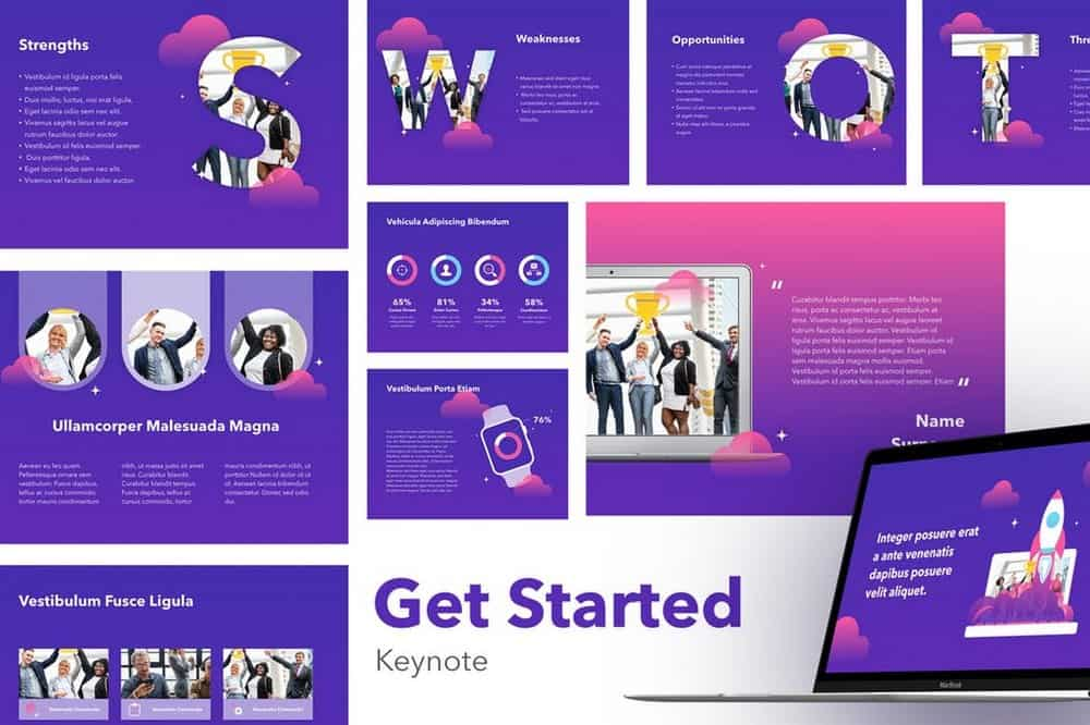 Get Started - Colorful Keynote Template
