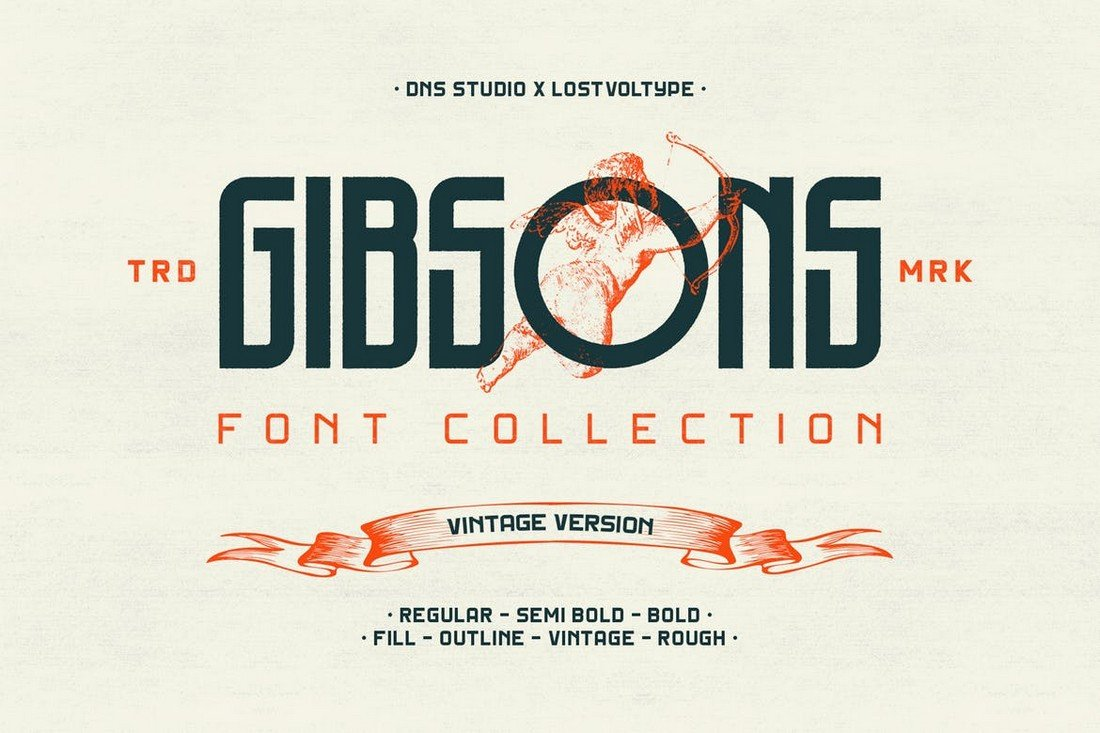 Gibsons Vintage Fonts Collection