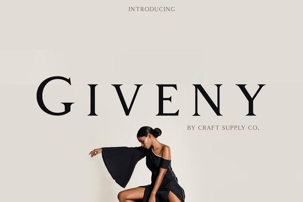 Giveny - Free Classy Serif Font