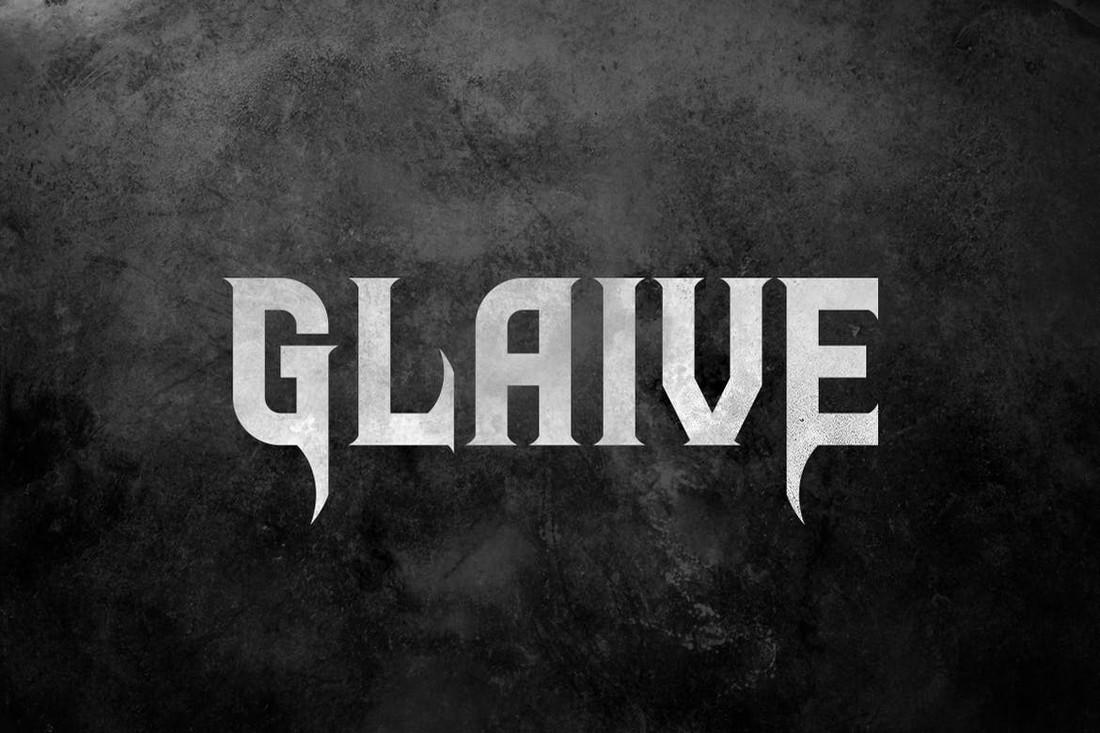 Glaive - Font Band Metal