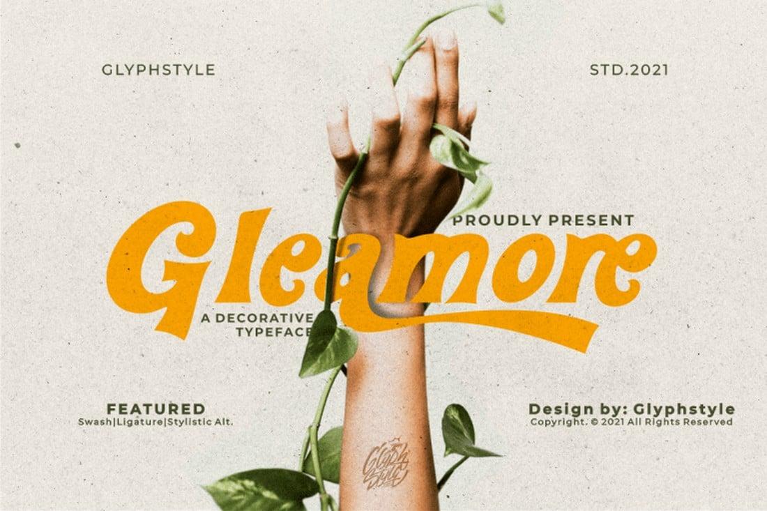 Gleamore - Font Cricut Gratis