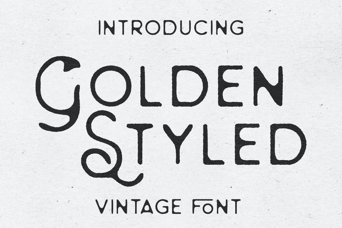 Golden Styled - Classic Vintage Font