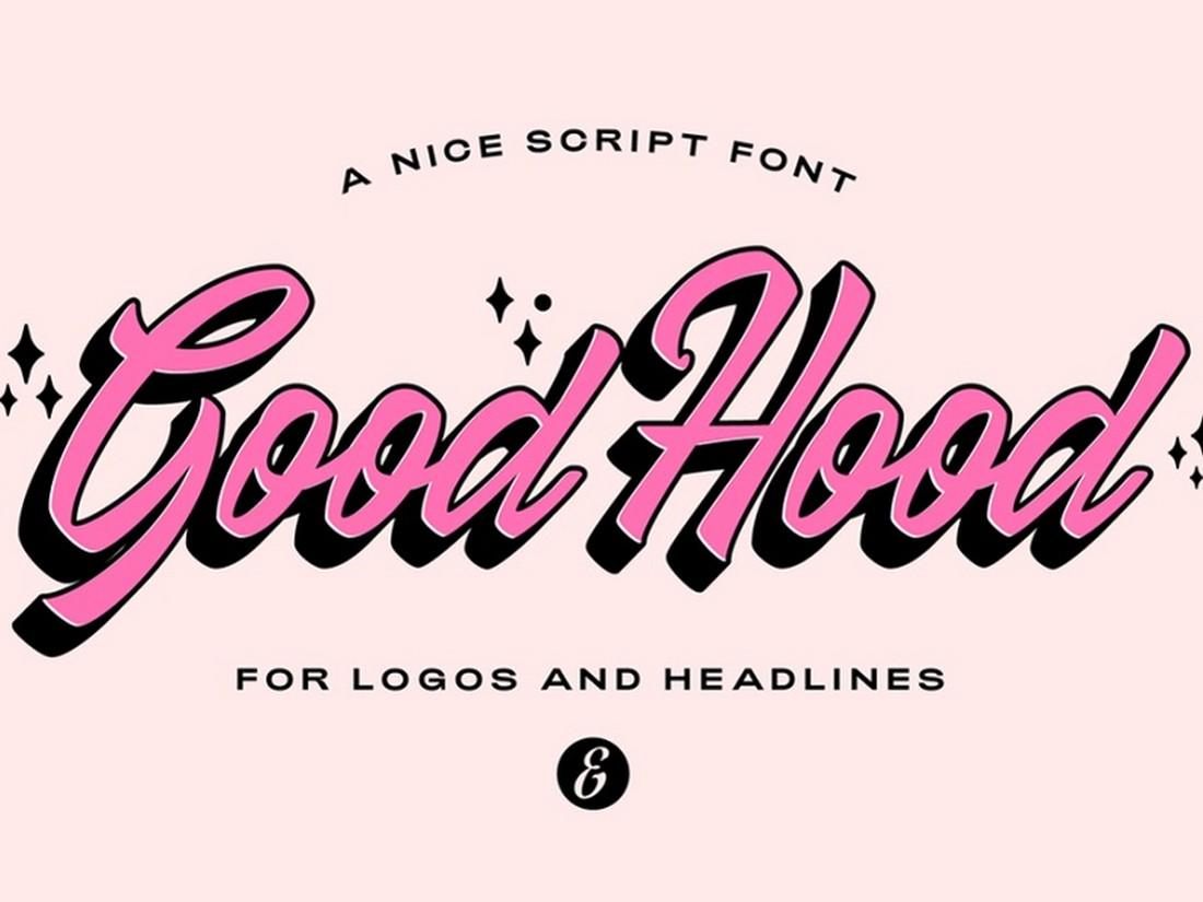 GoodHood - Font Gratis untuk Cricut