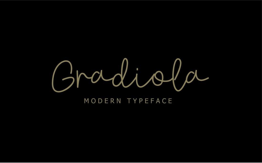 Gradiola - Free Modern Handwriting Font