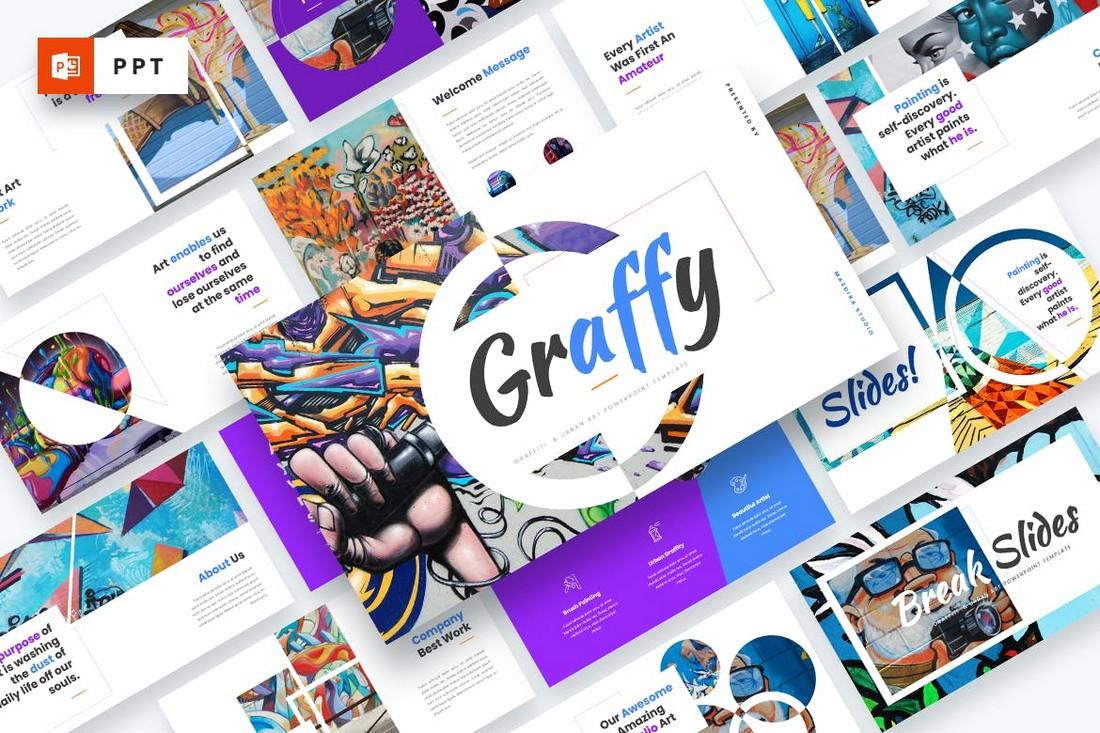 Graffy - Seni Perkotaan & Template Powerpoint Graffiti