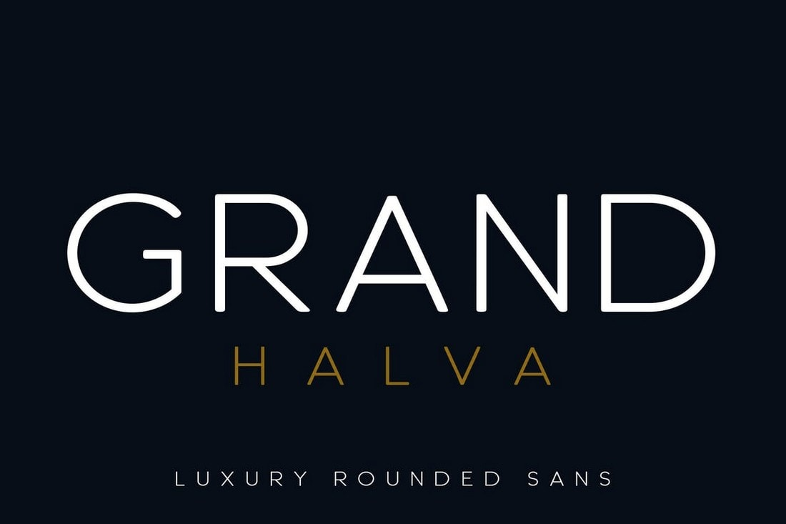 Grand Halva - Rounded Luxury Font
