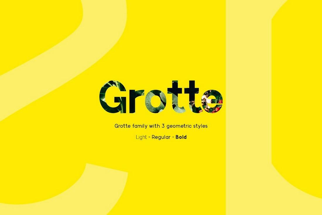 Grotte - Font Geometris Bersih