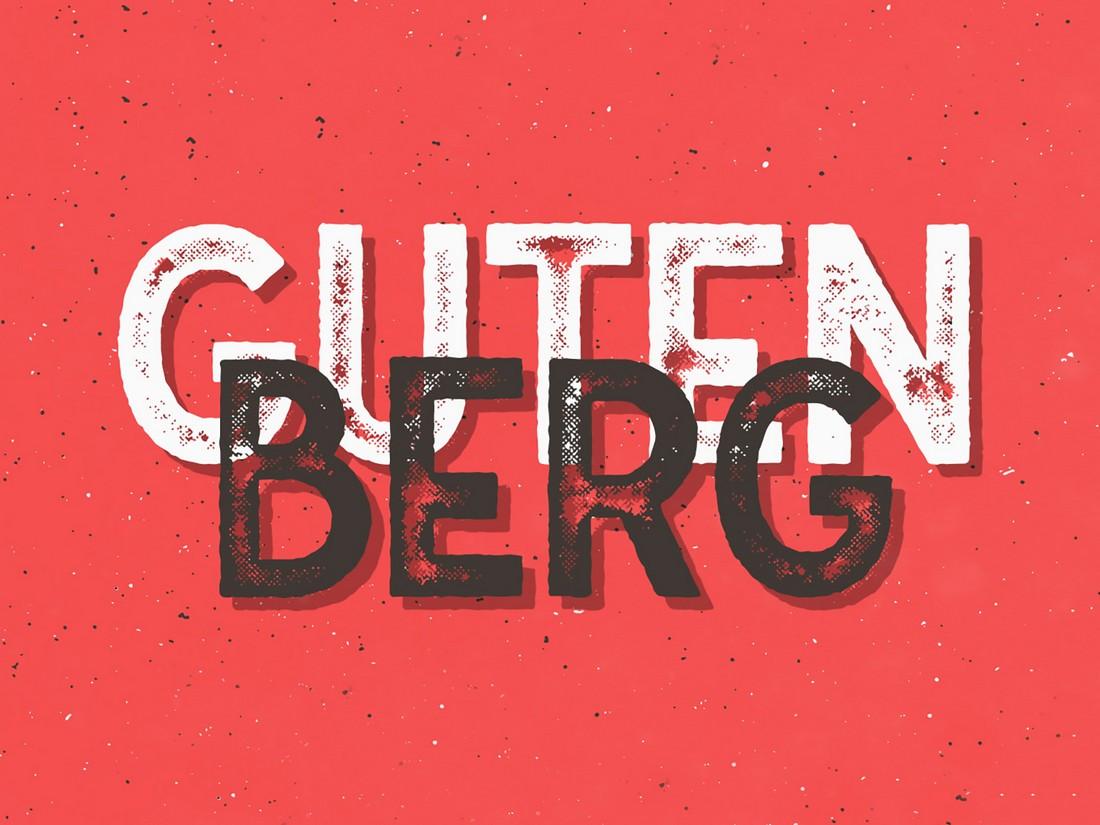 Gutenberg - Free Vintage Font Family