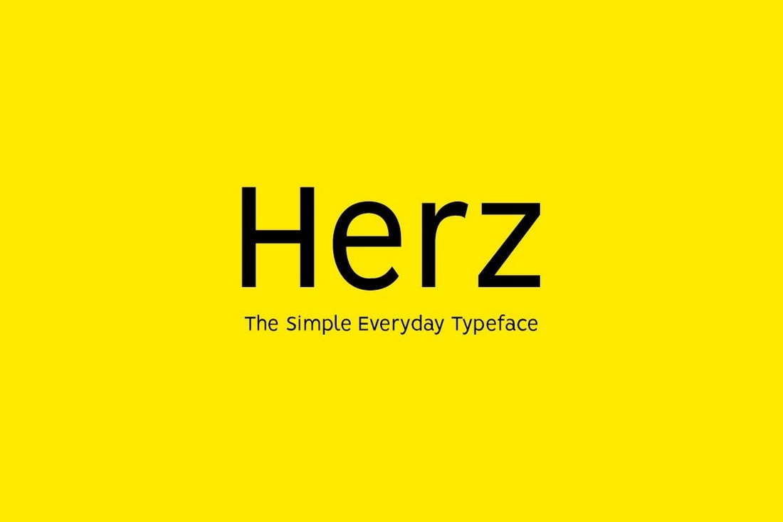 HERZ - Simple Sans Serif Font