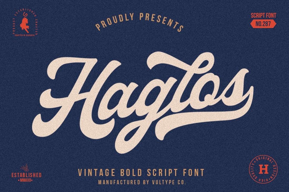 Haglos Bold Script Baseball Font