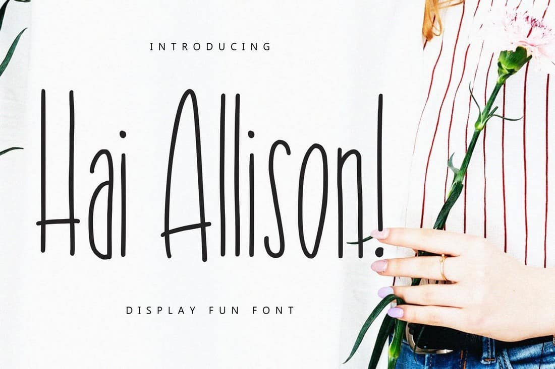 Hai Allison - Narrow Display Font