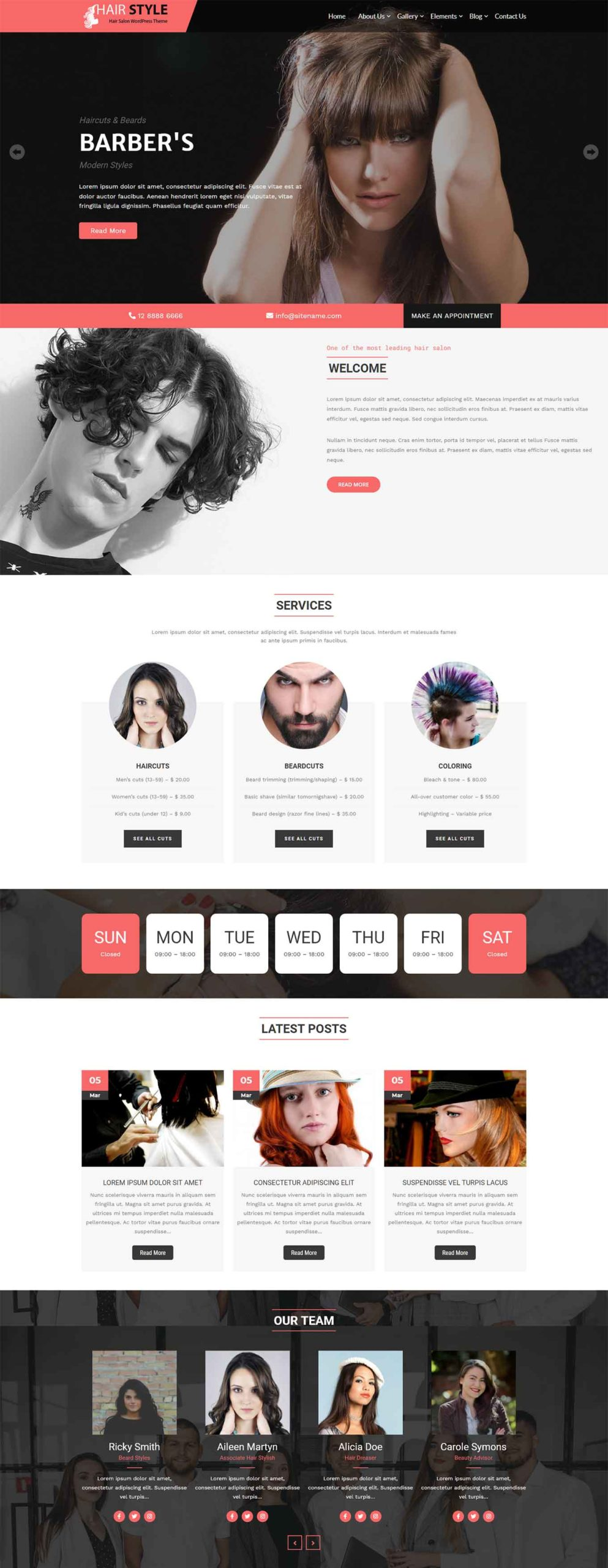 40 Best Hair Salon WordPress Themes 2021 Free Premium Theme Junkie