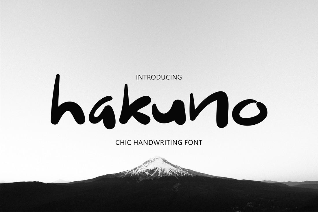 Hakuno - Huruf Jepang Tulisan Tangan Yang Cantik