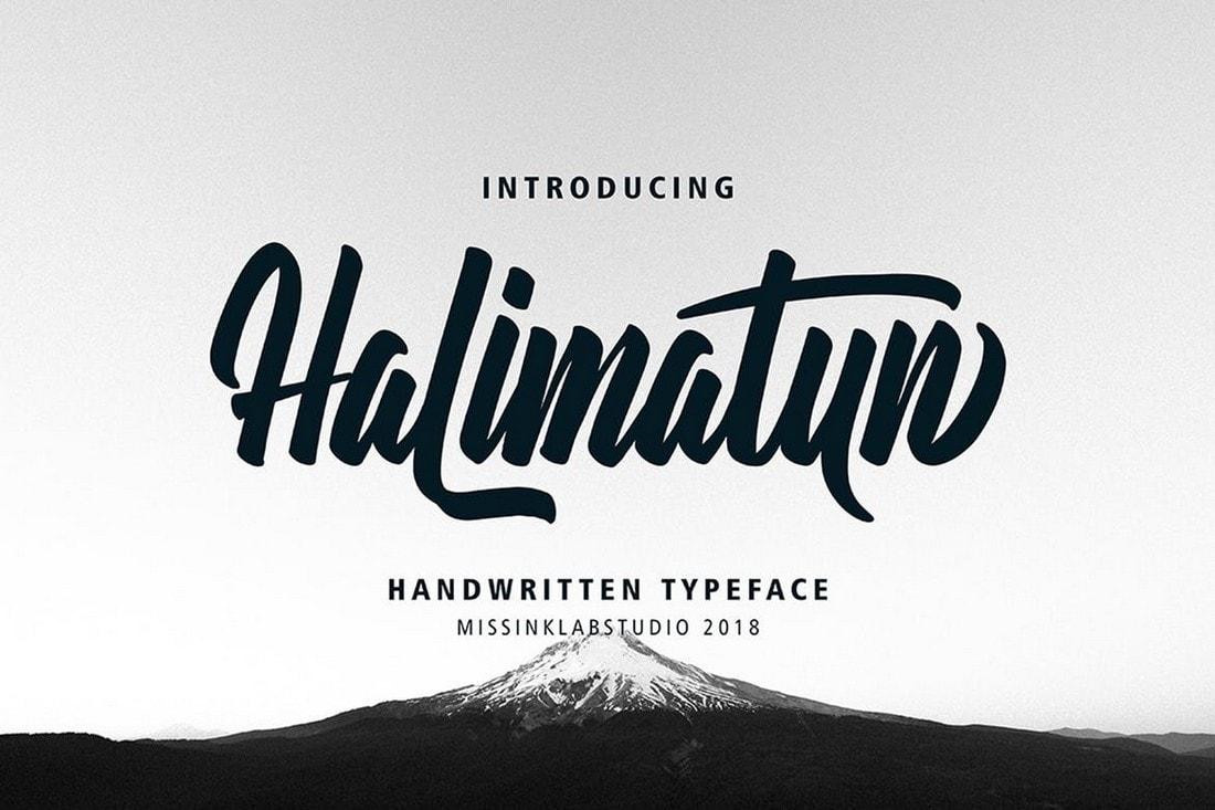 Halimatun - Handwritten Script Font