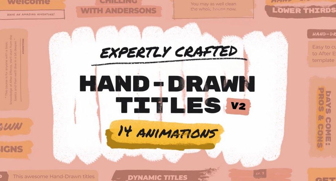 Hand Drawn Brush Titles Final Cut Pro Text Effects