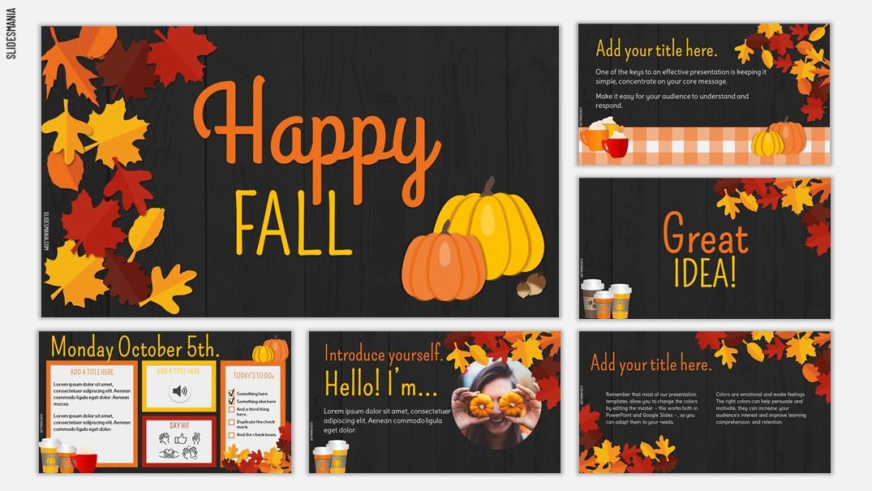 Happy Fall season slides