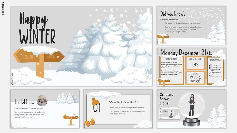 Happy Winter season slides