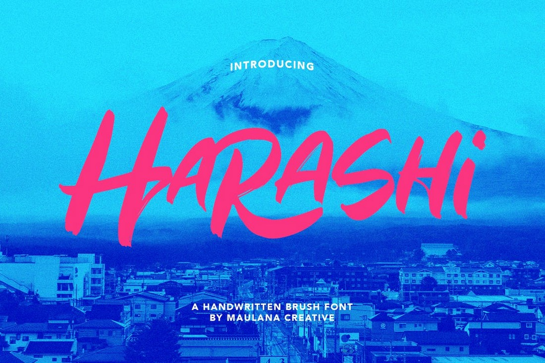 Harashi - Font Kuas Jepang Tulisan Tangan