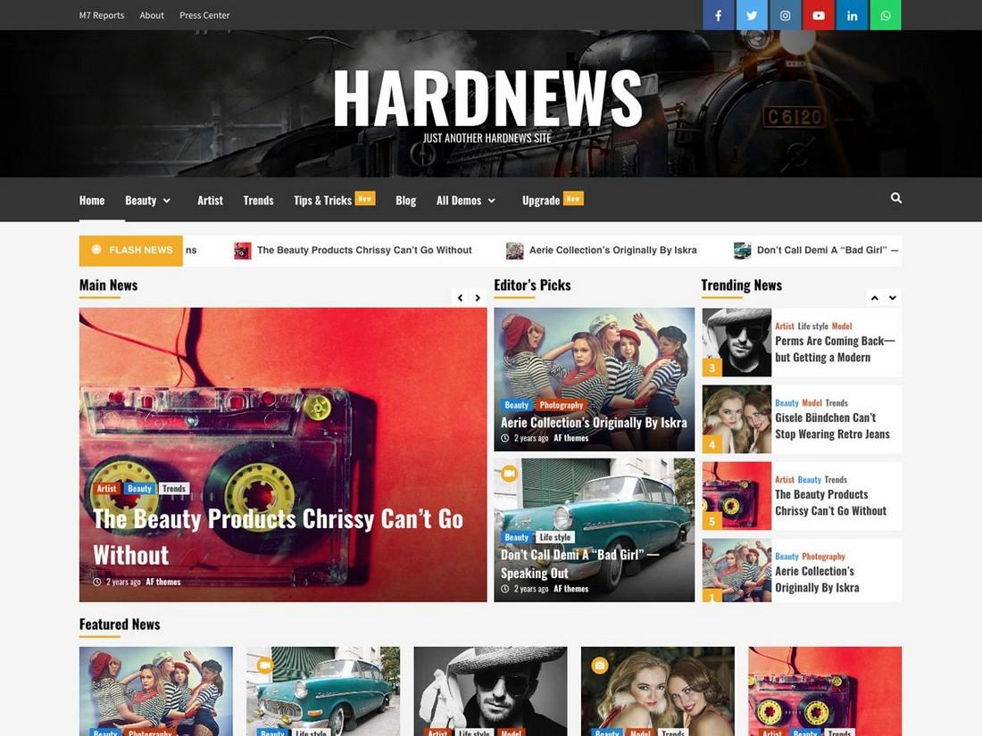 HardNews - Free WordPress News & Magazine Theme