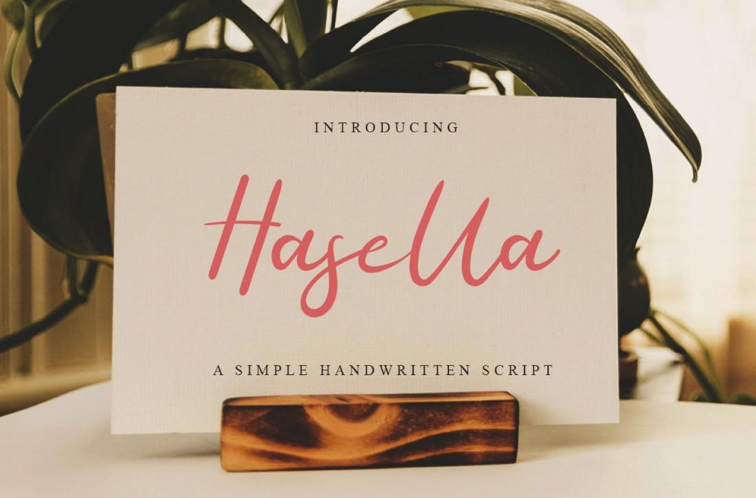 Hasella - Font Skrip Menangani Gratis