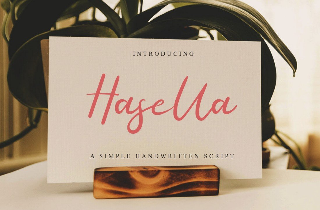 Hasella - Free Handlettering Script Font