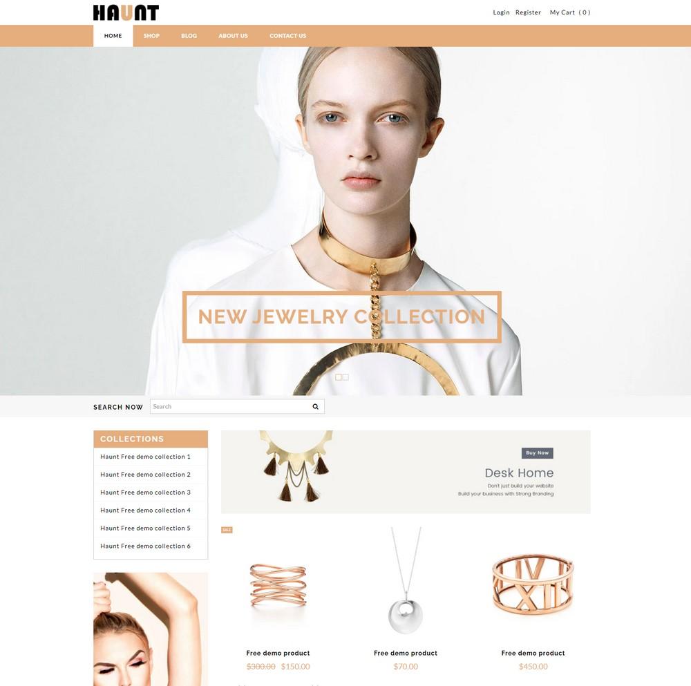 Haunt- free shopify theme