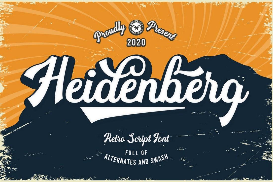 Heidenberg - Retro Baseball Font