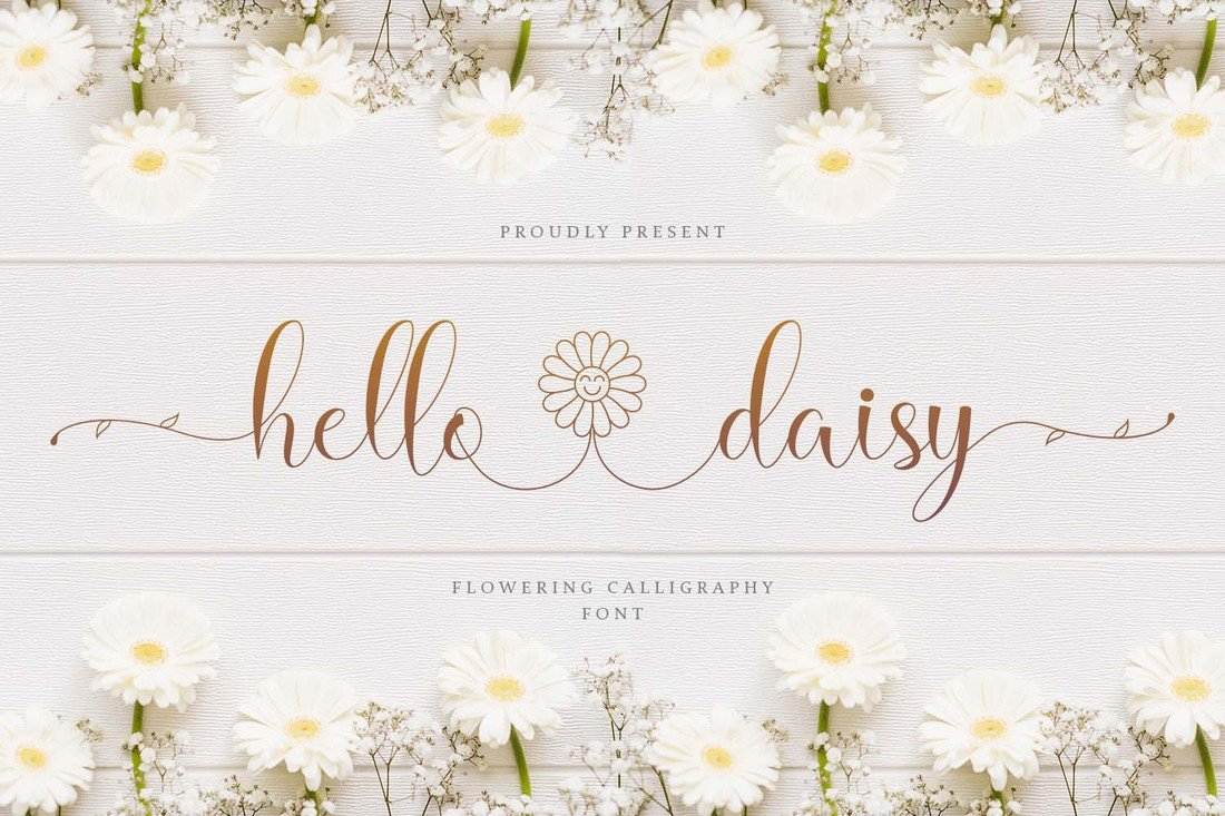 Hello Daisy - Free Wedding Script Font