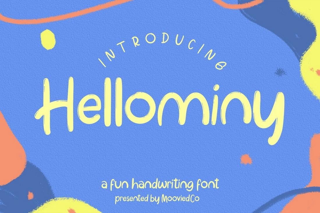 Hellominy - Font Anak Lucu