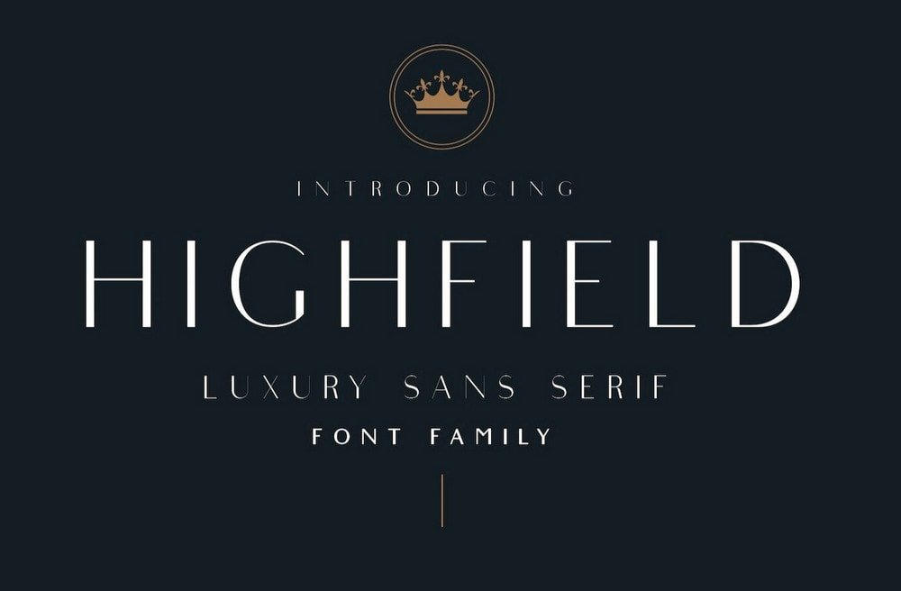 Highfield - Free Luxury Logo Font