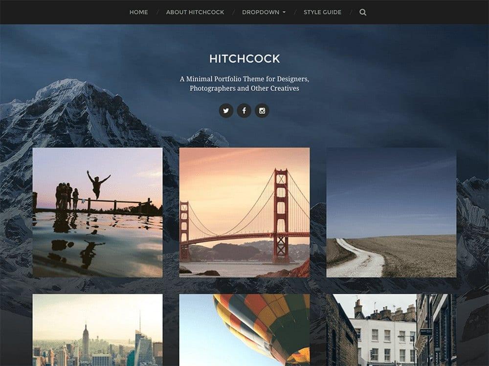 Hitchcock - Tema Fotografi WordPress Gratis