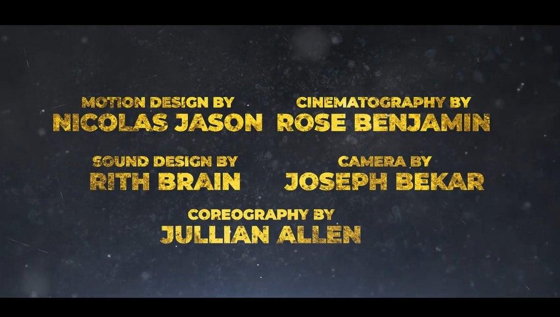 Templat Pro Premiere Kredit Akhir Hollywood