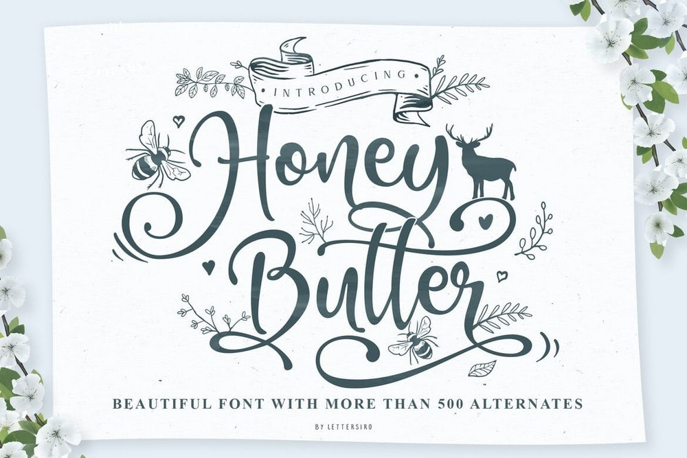 Honey Butter - Beautiful Wedding Font