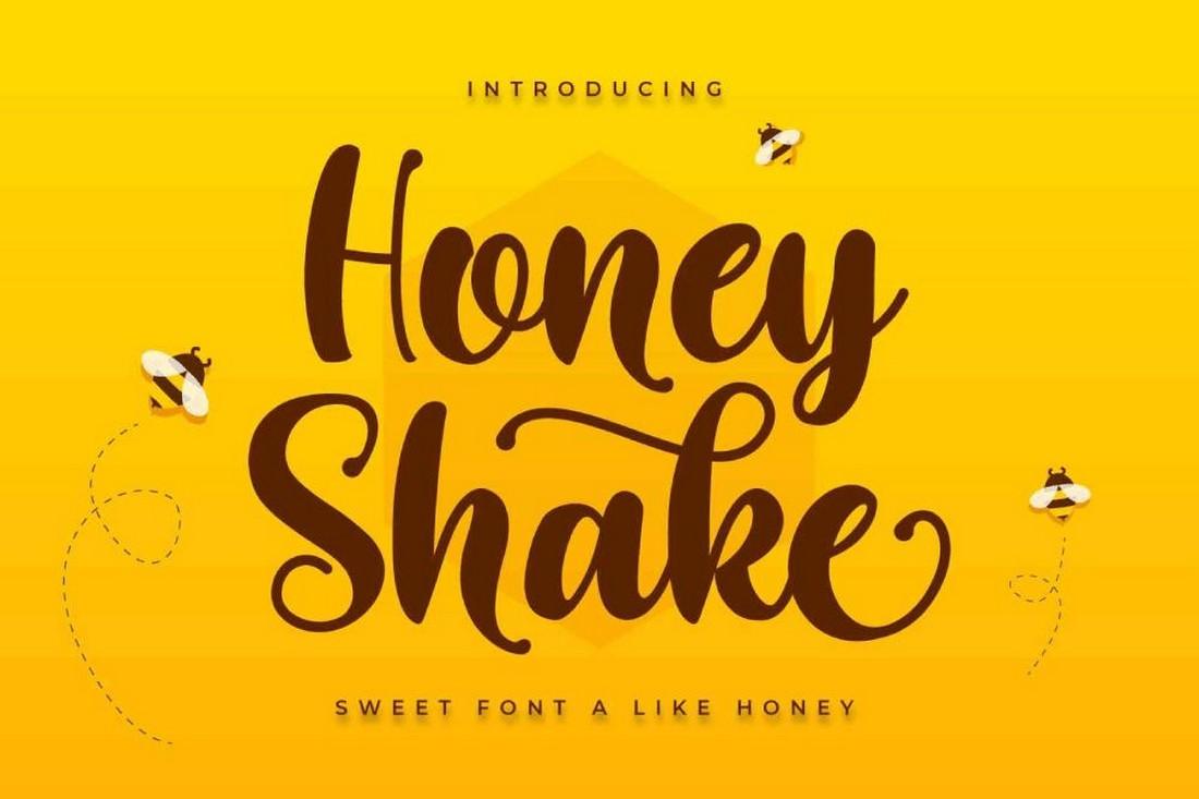 Honey Shake - Font Cricut Tulisan Tangan Gratis