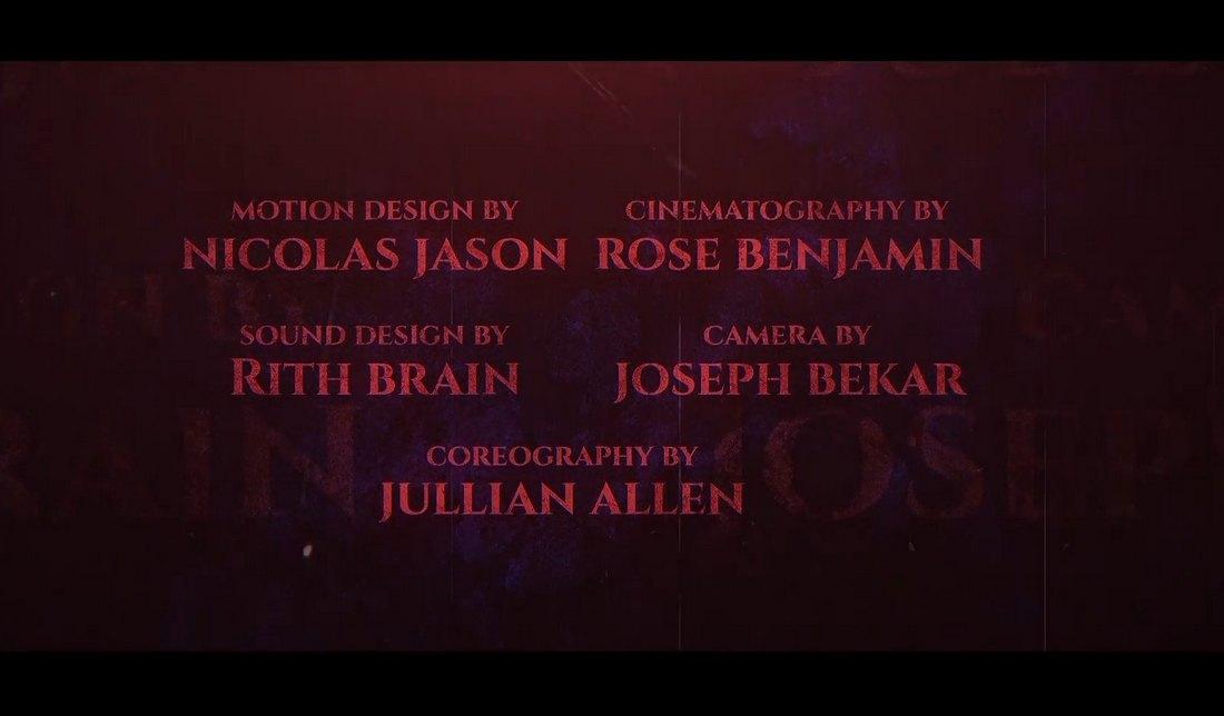 Templat Kredit Akhir Pro Film Horor Premier
