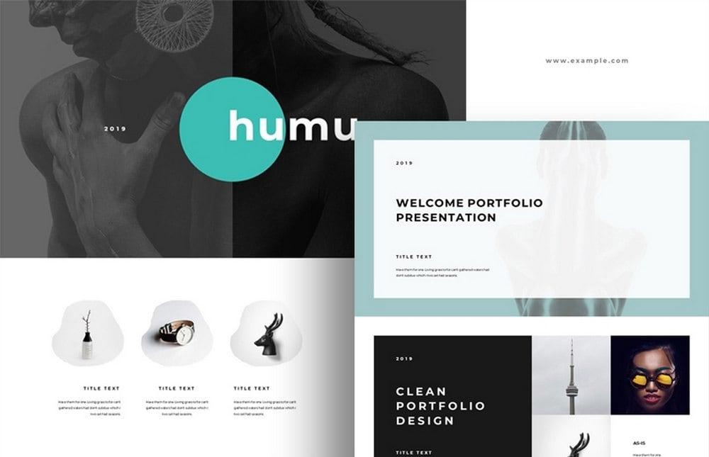 Humu - Free Minimal Keynote Template